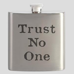 Trust No One (Black) Flask