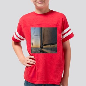 Bronze Sunset Sail Youth Football Shirt