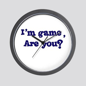 I'm game Wall Clock