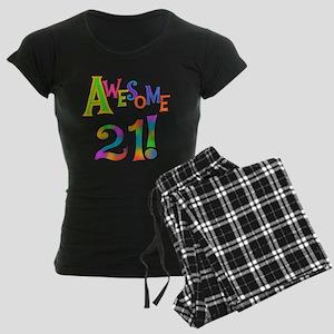 Awesome 21 Birthday Women's Dark Pajamas