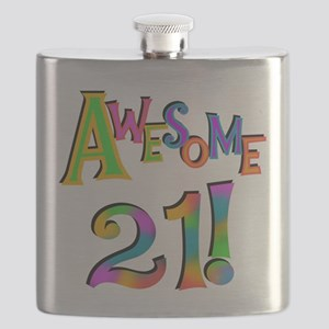 Awesome 21 Birthday Flask