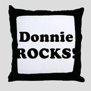 Donnie Rocks! Throw Pillow