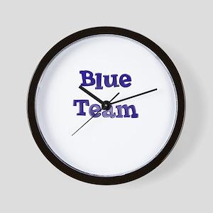 Blue Team Wall Clock