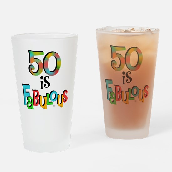 50 is Fabulous Drinking Glass