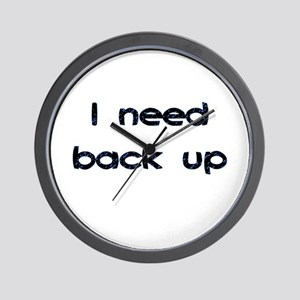 Back Up Wall Clock