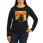 Zeus Brand Women's Long Sleeve Dark T-Shirt