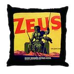 Zeus Brand Throw Pillow
