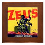 Zeus Brand Framed Tile