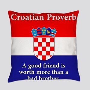 A Good Friend - Croatian Proverb Everyday Pillow