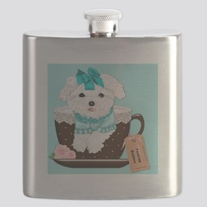 Teacup Baby Maltese thumbnail Flask