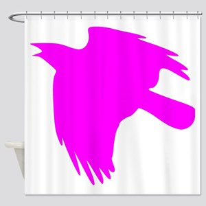 Pink Falcon Silhouette Shower Curtain
