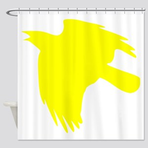 Yellow Falcon Silhouette Shower Curtain