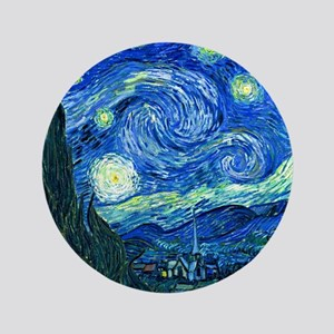 "van gogh starry night 3.5"" Button"