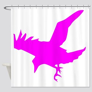 Pink Eagle Silhouette Shower Curtain