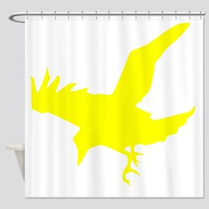 Yellow Eagle Silhouette Shower Curtain