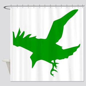Green Eagle Silhouette Shower Curtain