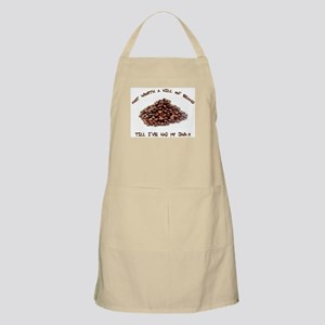Not worth a hill of beans BBQ Apron