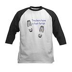 Foot Fetish Kids Baseball Jersey