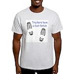 Foot Fetish Ash Grey T-Shirt