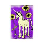 Sunflower Unicorn Rectangle Magnet