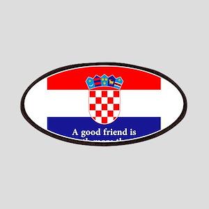 A Good Friend - Croatian Proverb Patch