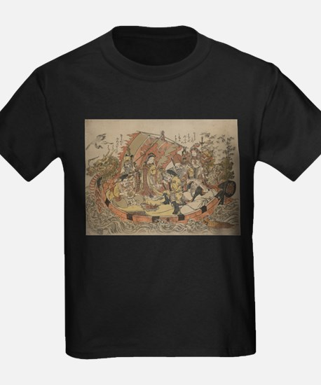 Seven Gods Of Good Fortune In The Treasure Boat T-