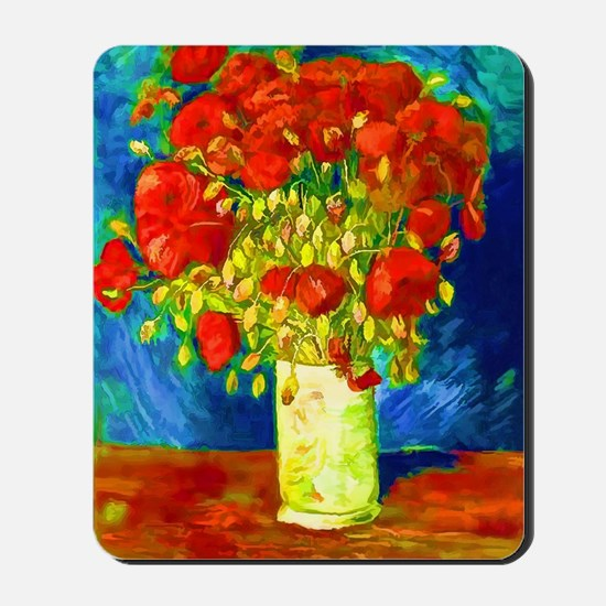 red poppies 2 Mousepad