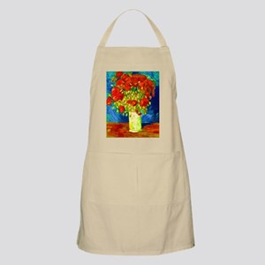 red poppies 2 Apron