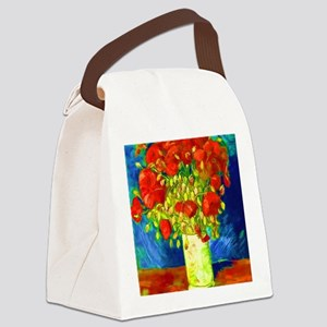 red poppies 2 Canvas Lunch Bag