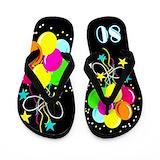 80th birthday Flip Flops
