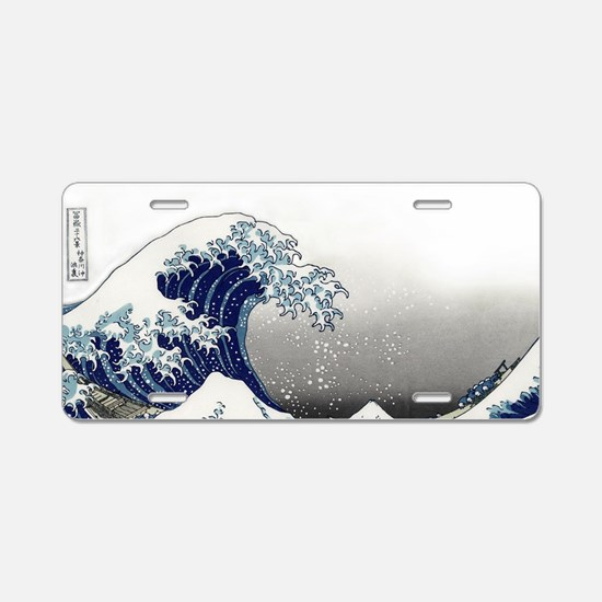 great wave of Kanagawa hoku Aluminum License Plate