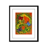Woman in Vines - Butterflies Framed Panel Print