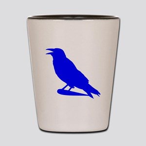 Blue Crow Silhouette Shot Glass