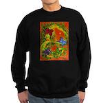 Woman in Vines - Butterflies Sweatshirt (dark)