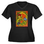 Woman in Vines - Butterflies Plus Size T-Shirt