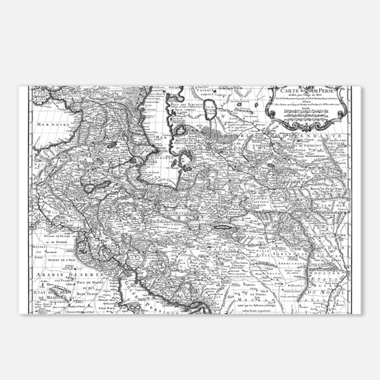 Persia Map 1724 Postcards (Package of 8)