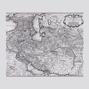 Persia Map 1724 Throw Blanket