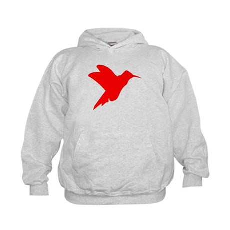 Red Hummingbird Silhouette Hoody