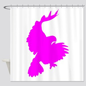 Pink Hawk Silhouette Shower Curtain