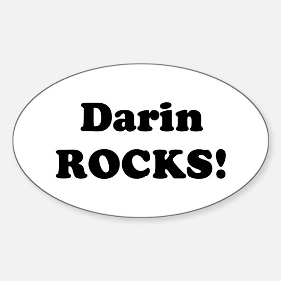 Darin Rocks! Oval Decal