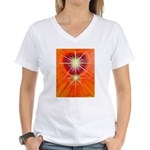 Love is Light Women's V-Neck T-Shirt