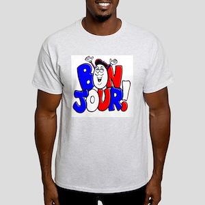 Bonjour! Flag Ash Grey T-Shirt