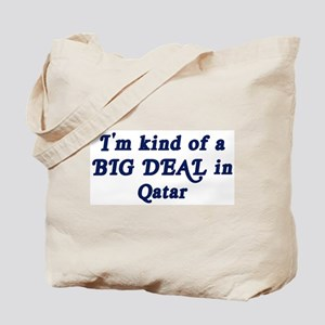 Big Deal in Qatar Tote Bag