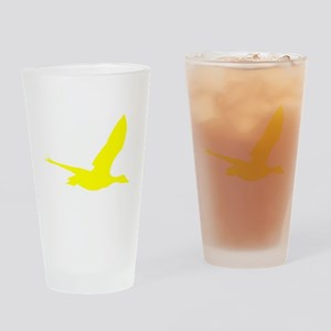 Yellow Stork Silhouette Drinking Glass