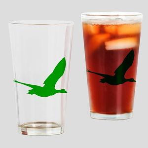 Green Stork Silhouette Drinking Glass