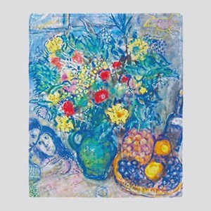 marc chagall still life Throw Blanket