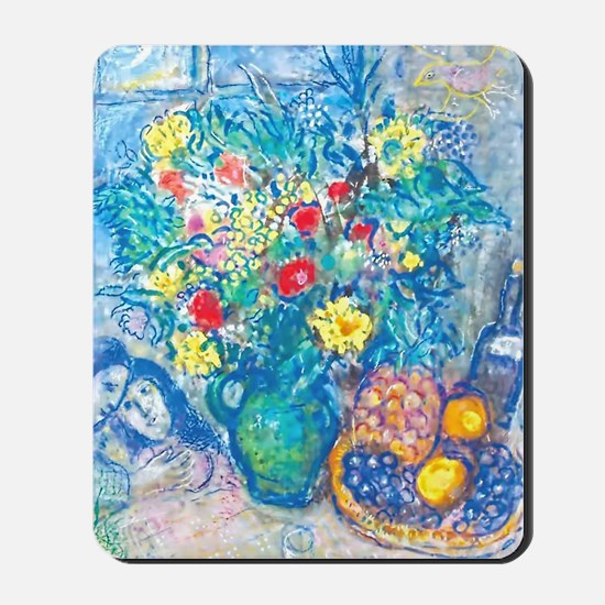 marc chagall still life Mousepad