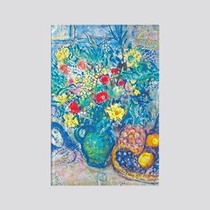marc chagall still life Rectangle Magnet
