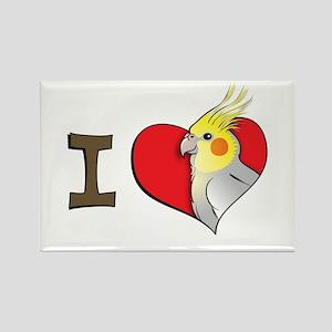 I heart cockatiels Rectangle Magnet