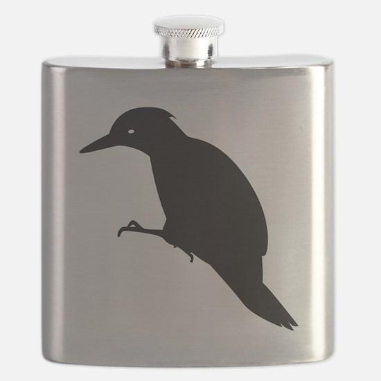 Black Yaffle Silhouette Flask